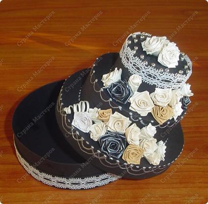 Захотелось мне сделать, чёрно-белый торт....  фото 3