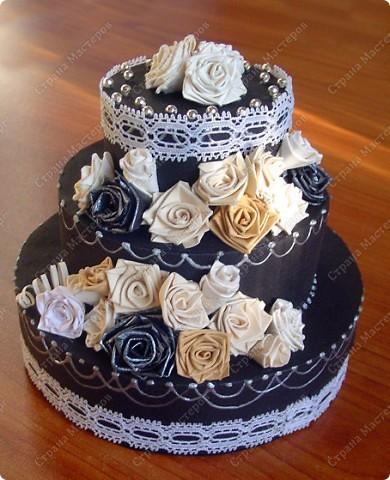 Захотелось мне сделать, чёрно-белый торт....  фото 1