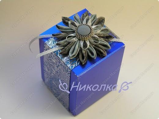 Вот так я украсила подарочную коробочку