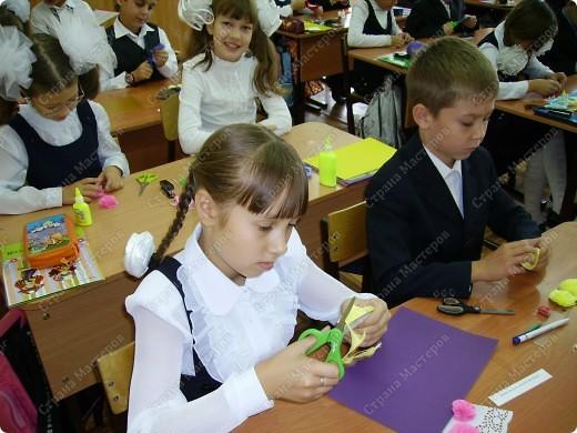 Вот такой букет мы с детьми делали ко Дню учителя. фото 5
