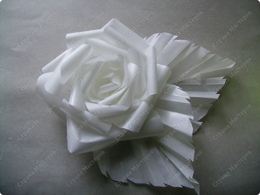 Роза из кальки - легко! фото 27