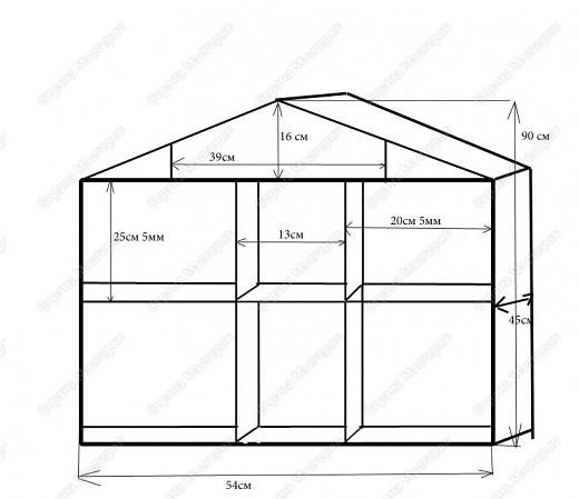 Размеры кукольного домика для барби