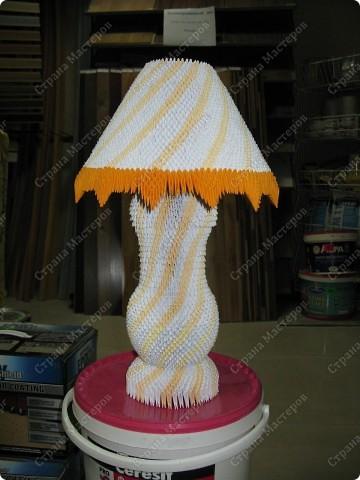Лампа настольная - модульное оригами фото 1