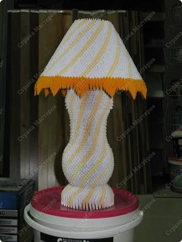 Лампа настольная - модульное оригами фото 2