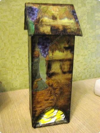 Это чайный домик в продолжение винной темы к часам (их можно посмотреть в моем блоге). фото 1
