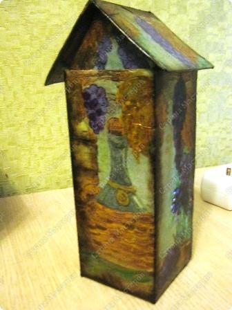 Это чайный домик в продолжение винной темы к часам (их можно посмотреть в моем блоге). фото 4