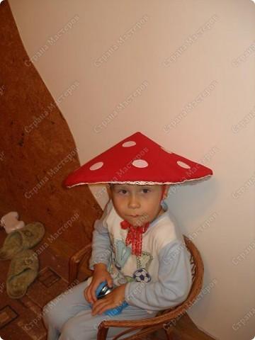 Шляпка гриба для ребенка своими руками
