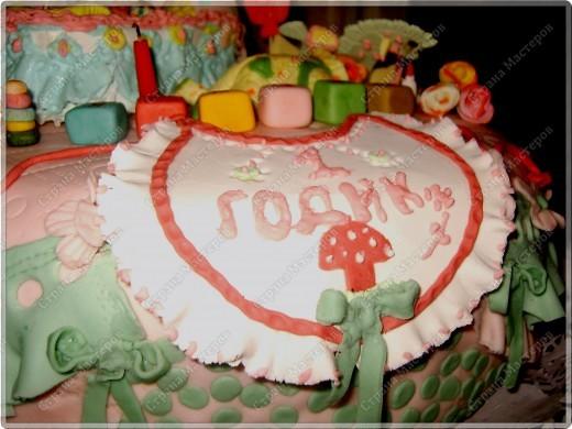 У моего крестничка 5 ноября было день рождения - он уже у нас взрослый - ведь ему исполнился годик!!! Его любимая бабушка Люба ( женщина с ЗОЛОТЫМИ ручками) испекла ему невероятный торт!!! Мне очень хочется Вам показать этот фееричный шедевр! фото 2