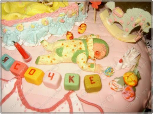У моего крестничка 5 ноября было день рождения - он уже у нас взрослый - ведь ему исполнился годик!!! Его любимая бабушка Люба ( женщина с ЗОЛОТЫМИ ручками) испекла ему невероятный торт!!! Мне очень хочется Вам показать этот фееричный шедевр! фото 4