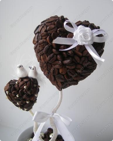 """Добрый день всем мастерицам! Представляю новое( или старое) деревце на свадьбу. По мотивам """"Верность кофе"""" заказали такое же, но на свадьбу!  фото 2"""