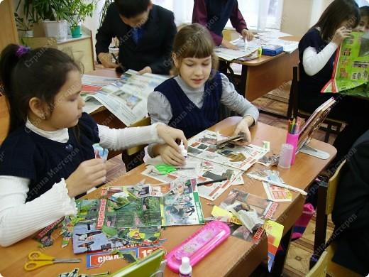 Несколько уроков технологии посвятили работе с макулатурой. Цель - научить детей видеть в старых газетах и журналах материал для творчества. фото 8