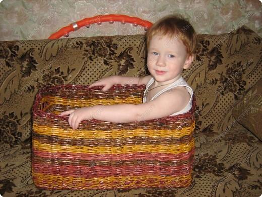 вот такая корзиночка получилась, благодаря мастерицам нашего сайта, за что им большое СПАСИБО  фото 4