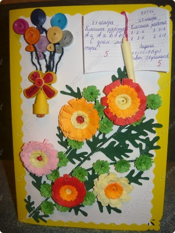 Такую открытку мы сделали для классного руководителя наших детей на день Матери во 2 классе. фото 1