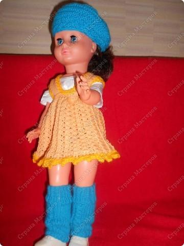 Связала кукле одежду фото 3