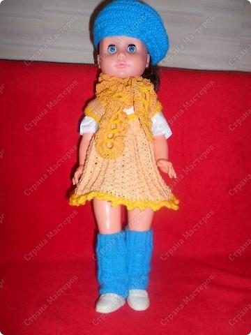 Связала кукле одежду фото 2