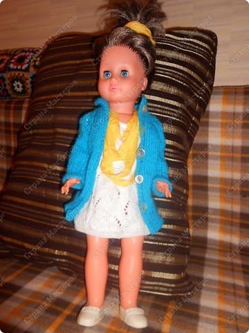Связала кукле одежду фото 4