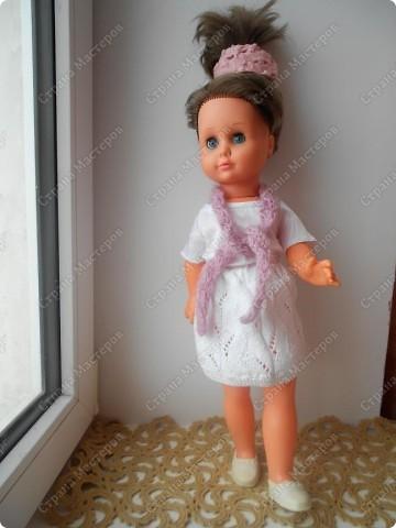 Связала кукле одежду фото 5
