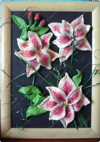 мне очень понравились лилии у Иришечки здесь в СМ,решила и я что то подобное сотворить))) фото 2