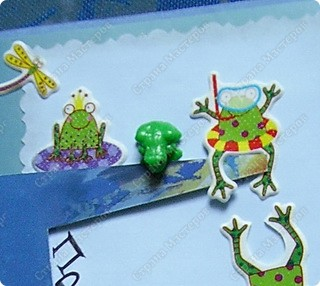 Давно лежали наклейки с лягушками. И снова спасибо Лене за скетч! Наконец,  благодаря ей, лягушки искупались! )) фото 3