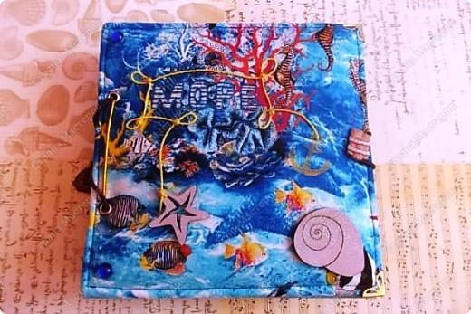 Альбом в подарок сестре. Обложка из хлопка украшена шнуром, полубусинами, чипбордом фото 1