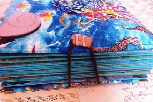 Альбом в подарок сестре. Обложка из хлопка украшена шнуром, полубусинами, чипбордом фото 4