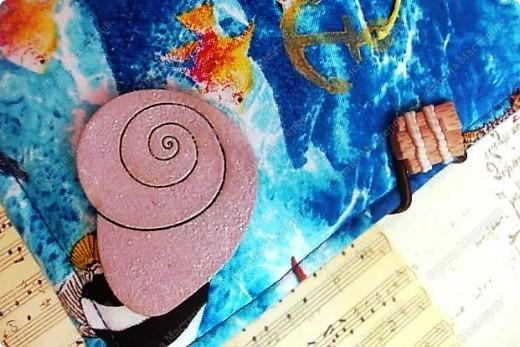 Альбом в подарок сестре. Обложка из хлопка украшена шнуром, полубусинами, чипбордом фото 5