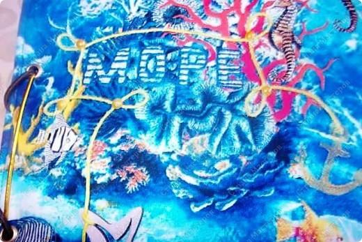 Альбом в подарок сестре. Обложка из хлопка украшена шнуром, полубусинами, чипбордом фото 6