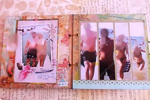 Альбом в подарок сестре. Обложка из хлопка украшена шнуром, полубусинами, чипбордом фото 12