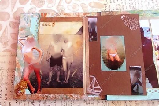 Альбом в подарок сестре. Обложка из хлопка украшена шнуром, полубусинами, чипбордом фото 14