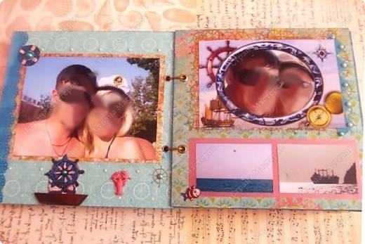 Альбом в подарок сестре. Обложка из хлопка украшена шнуром, полубусинами, чипбордом фото 16
