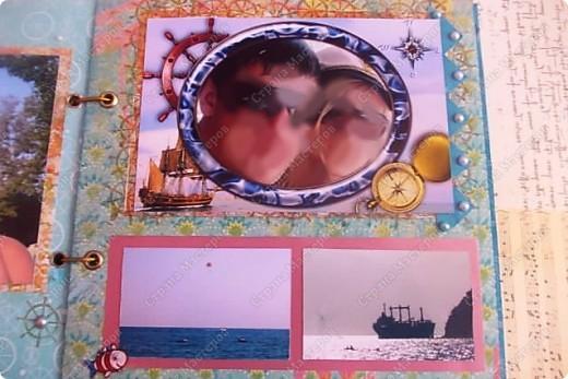 Альбом в подарок сестре. Обложка из хлопка украшена шнуром, полубусинами, чипбордом фото 18