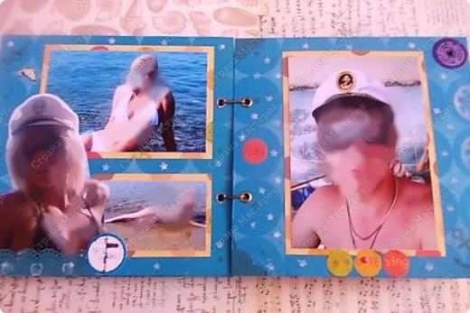 Альбом в подарок сестре. Обложка из хлопка украшена шнуром, полубусинами, чипбордом фото 19