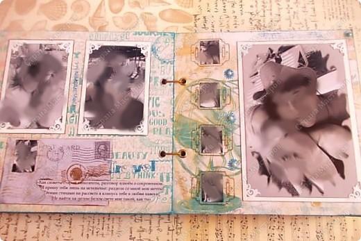 Альбом в подарок сестре. Обложка из хлопка украшена шнуром, полубусинами, чипбордом фото 22