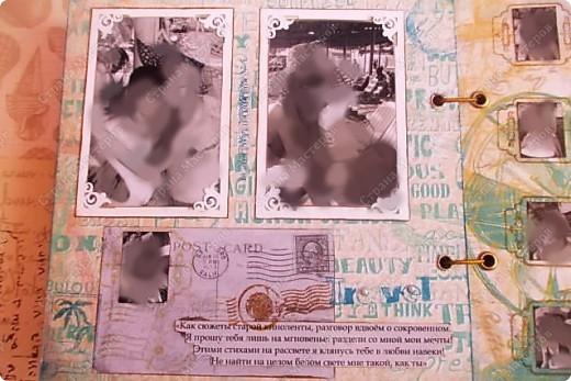 Альбом в подарок сестре. Обложка из хлопка украшена шнуром, полубусинами, чипбордом фото 23