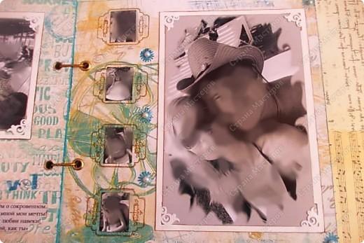 Альбом в подарок сестре. Обложка из хлопка украшена шнуром, полубусинами, чипбордом фото 25