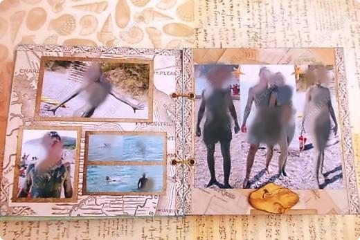 Альбом в подарок сестре. Обложка из хлопка украшена шнуром, полубусинами, чипбордом фото 29