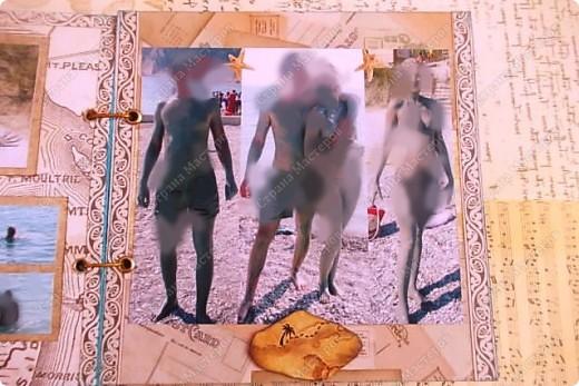Альбом в подарок сестре. Обложка из хлопка украшена шнуром, полубусинами, чипбордом фото 31