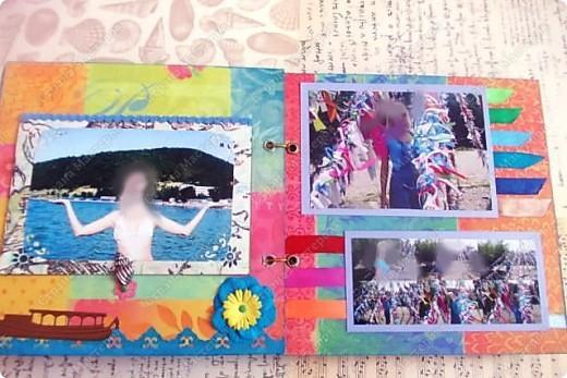 Альбом в подарок сестре. Обложка из хлопка украшена шнуром, полубусинами, чипбордом фото 36