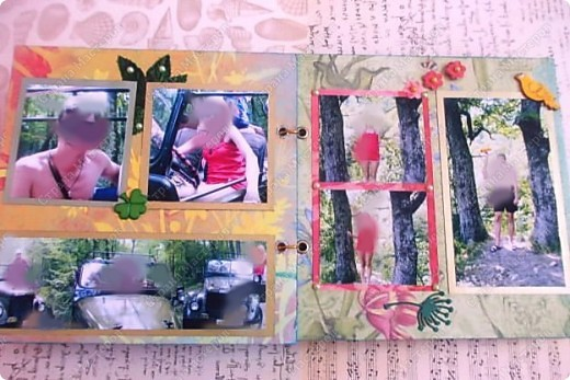 Альбом в подарок сестре. Обложка из хлопка украшена шнуром, полубусинами, чипбордом фото 42
