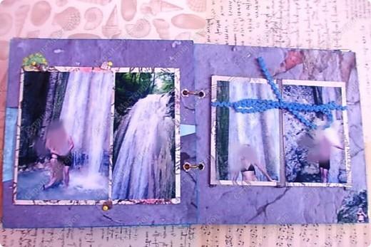 Альбом в подарок сестре. Обложка из хлопка украшена шнуром, полубусинами, чипбордом фото 46