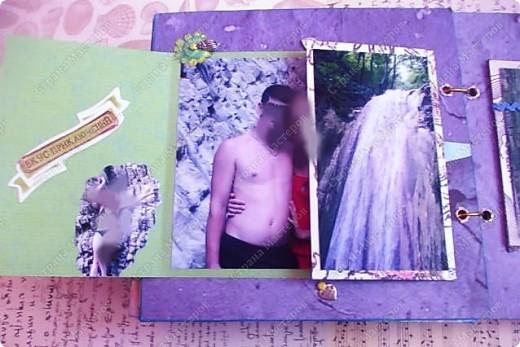 Альбом в подарок сестре. Обложка из хлопка украшена шнуром, полубусинами, чипбордом фото 49