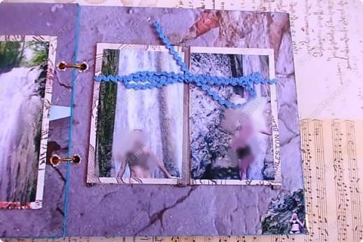 Альбом в подарок сестре. Обложка из хлопка украшена шнуром, полубусинами, чипбордом фото 50