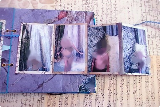 Альбом в подарок сестре. Обложка из хлопка украшена шнуром, полубусинами, чипбордом фото 53