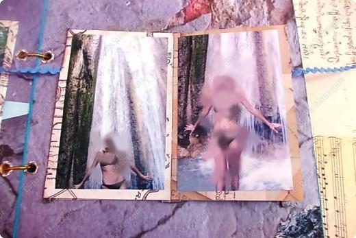 Альбом в подарок сестре. Обложка из хлопка украшена шнуром, полубусинами, чипбордом фото 55
