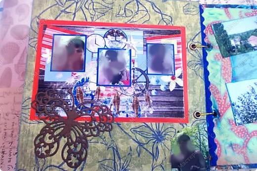 Альбом в подарок сестре. Обложка из хлопка украшена шнуром, полубусинами, чипбордом фото 57