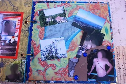 Альбом в подарок сестре. Обложка из хлопка украшена шнуром, полубусинами, чипбордом фото 58