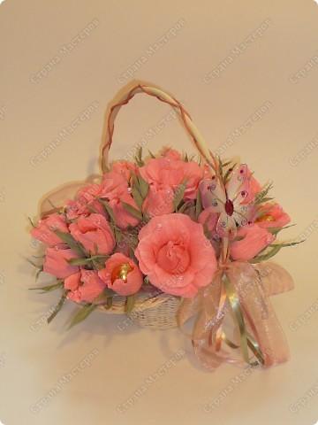 Корзина с розовыми бутонами. Идея Вендика с Осинки (Спасибки!) фото 1