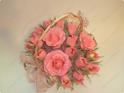 Корзина с розовыми бутонами. Идея Вендика с Осинки (Спасибки!) фото 2
