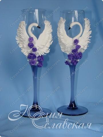 Этот блог у меня получился с одними повторюшками. Таких голубков я делала в фиолетовом, а тут заказали вот в таком цвете.  фото 2