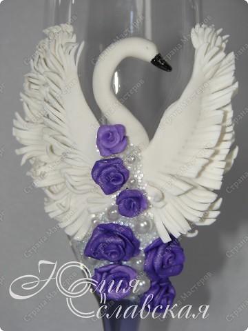 Этот блог у меня получился с одними повторюшками. Таких голубков я делала в фиолетовом, а тут заказали вот в таком цвете.  фото 3